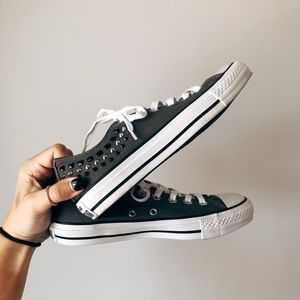 Brand new studded converse sneakers